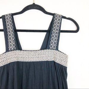 Vertigo Paris Black Tan Stitched Maxi Dress